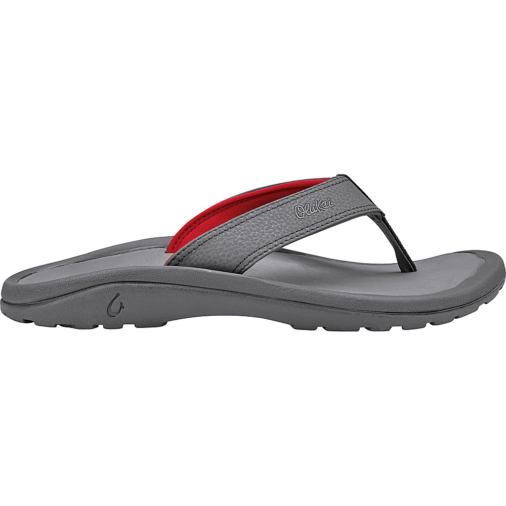 OluKai Mens Ohana Sandal 11 - Charcoal/Charcoal - OluKai Mens Footwear - Apparel & Footwear, Men's Footwear