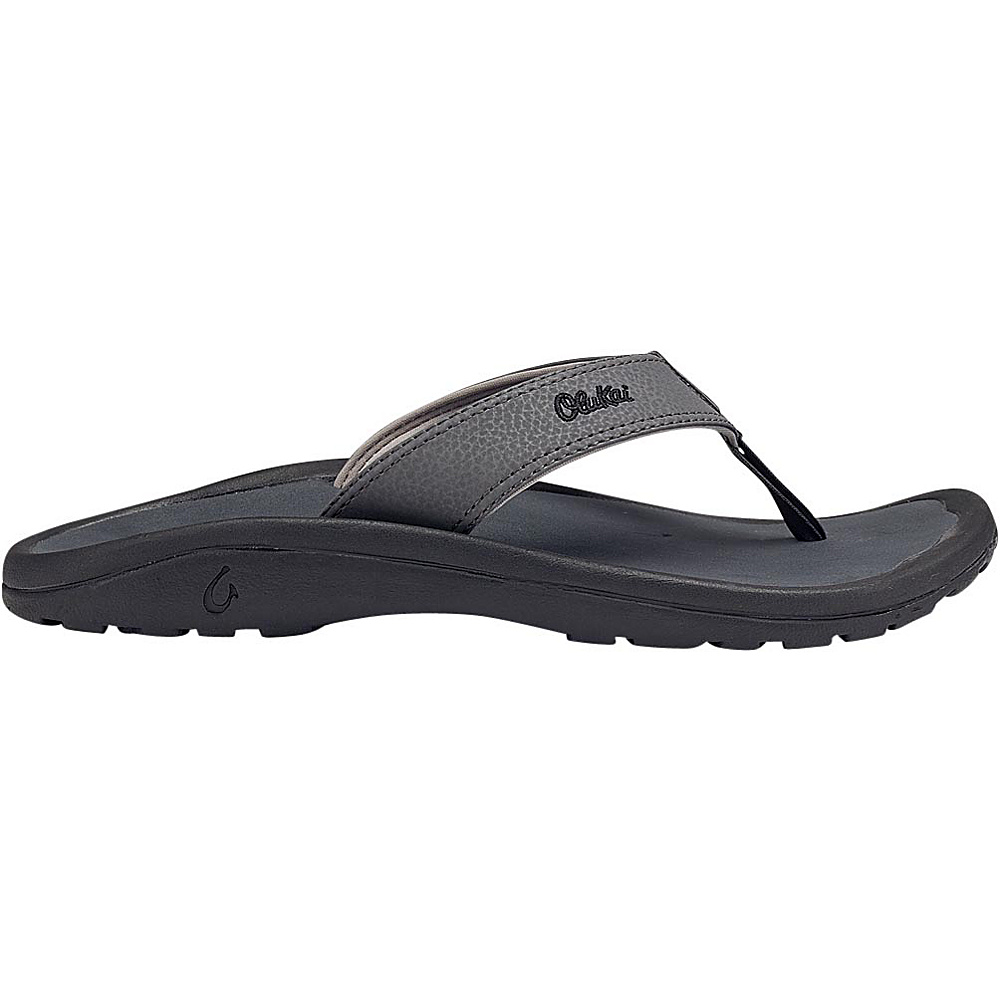 OluKai Mens Ohana Sandal 14 - Dark Shadow/Dark Shadow - OluKai Mens Footwear - Apparel & Footwear, Men's Footwear