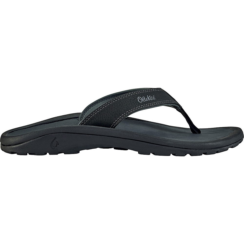 OluKai Mens Ohana Sandal 12 - Black/Dark Shadow - OluKai Mens Footwear - Apparel & Footwear, Men's Footwear