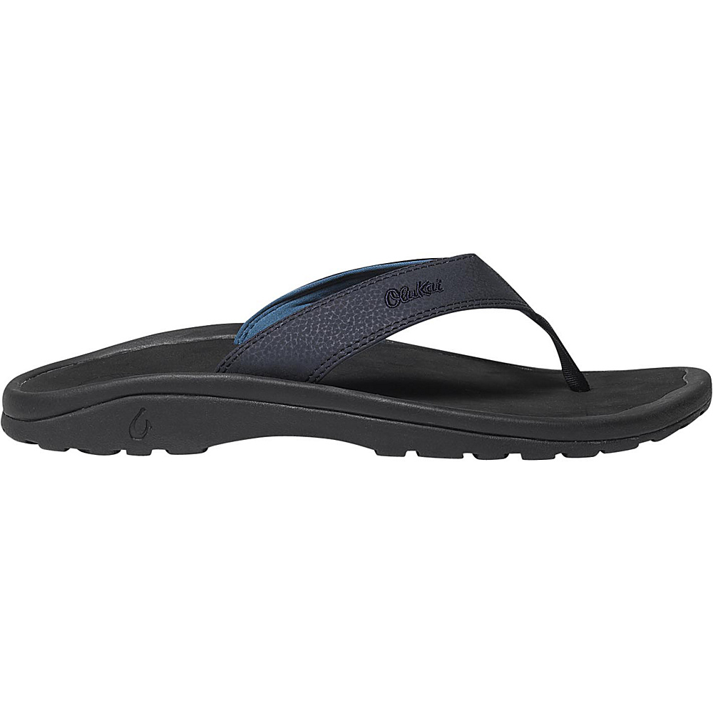 OluKai Mens Ohana Sandal 9 - Depth/Black - OluKai Mens Footwear - Apparel & Footwear, Men's Footwear
