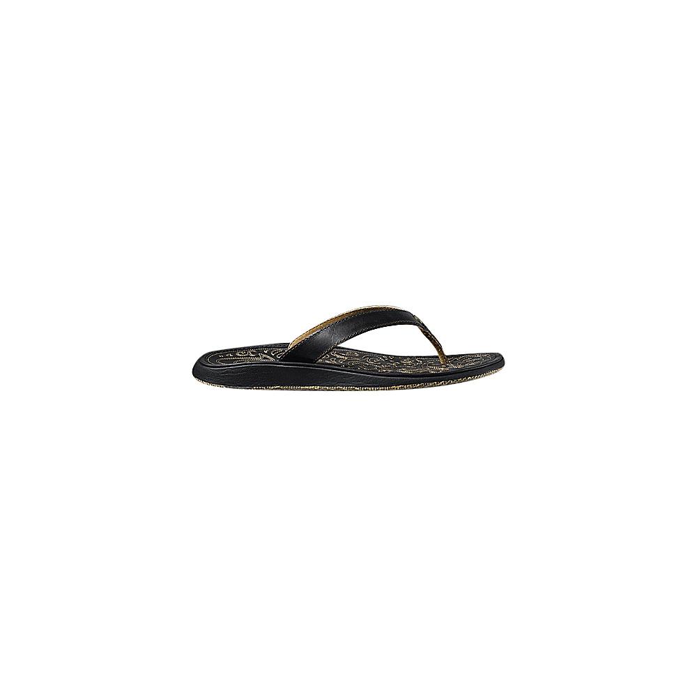 OluKai Womens Paniolo Sandal 5 - Black/Black - OluKai Womens Footwear - Apparel & Footwear, Women's Footwear
