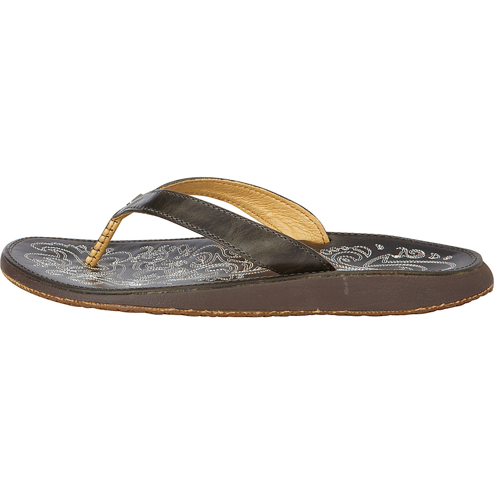 OluKai Womens Paniolo Sandal 6 - Charcoal - OluKai Womens Footwear - Apparel & Footwear, Women's Footwear