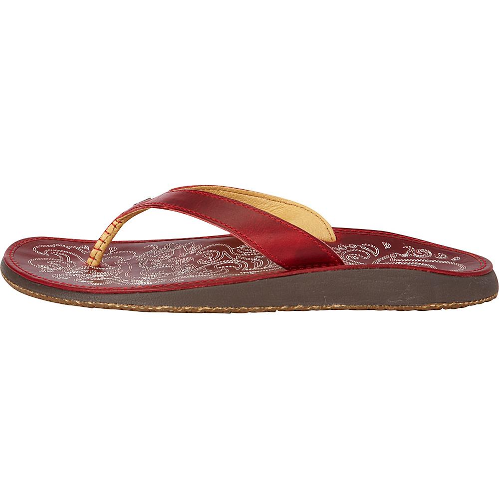 OluKai Womens Paniolo Sandal 11 - Ohia Red/Ohia Red - OluKai Womens Footwear - Apparel & Footwear, Women's Footwear