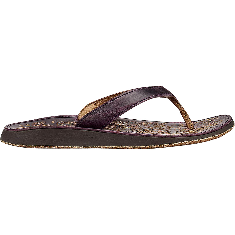 OluKai Womens Paniolo Sandal 5 - Blackberry/Blackberry - OluKai Womens Footwear - Apparel & Footwear, Women's Footwear