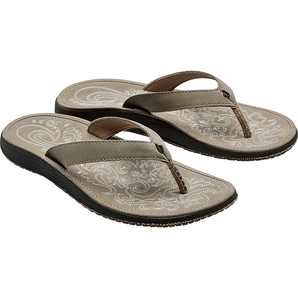 OluKai Womens Paniolo Sandal 5 - Taupe/Taupe - OluKai Womens Footwear - Apparel & Footwear, Women's Footwear