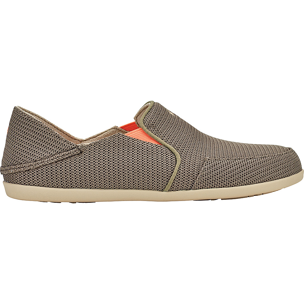 OluKai Womens Waialua Mesh Slip-On 9 - Mustang/Melon - OluKai Womens Footwear - Apparel & Footwear, Women's Footwear