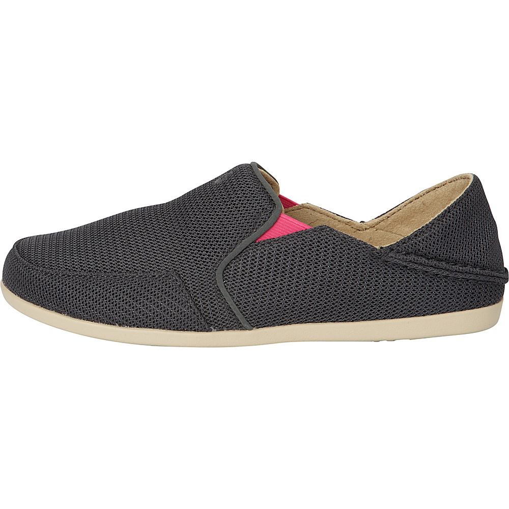 OluKai Womens Waialua Mesh Slip-On 7 - Dark Shadow/Magenta - OluKai Womens Footwear - Apparel & Footwear, Women's Footwear