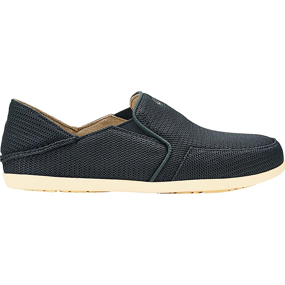 OluKai Womens Waialua Mesh Slip-On 9.5 - Dark Shadow/Dark Shadow - OluKai Womens Footwear - Apparel & Footwear, Women's Footwear