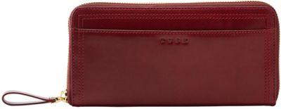 TUSK LTD Single Zip Gusseted Clutch Oxblood - TUSK LTD Women's Wallets