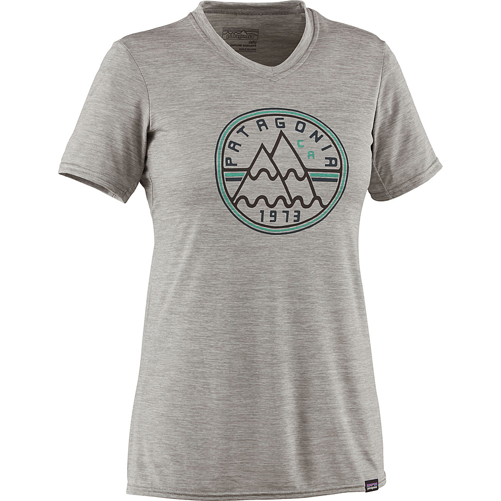 Patagonia Womens Capilene Daily Graphic T-Shirt XL - Mt. Minded Peaks: Drifter Grey Heather - Patagonia Womens Apparel - Apparel & Footwear, Women's Apparel