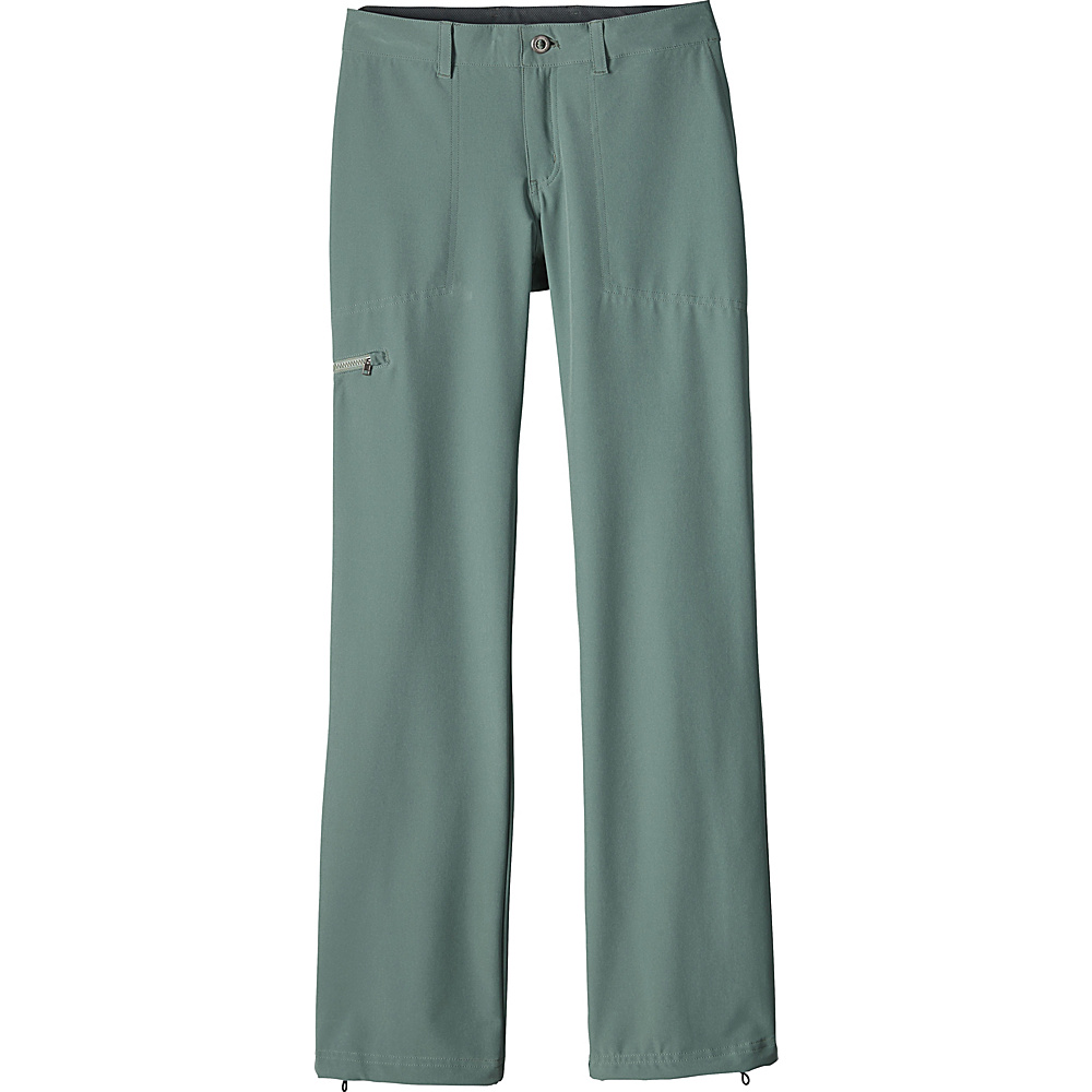 Patagonia Womens Happy Hike Pants 6 - Petite - Hemlock Green - Patagonia Womens Apparel - Apparel & Footwear, Women's Apparel