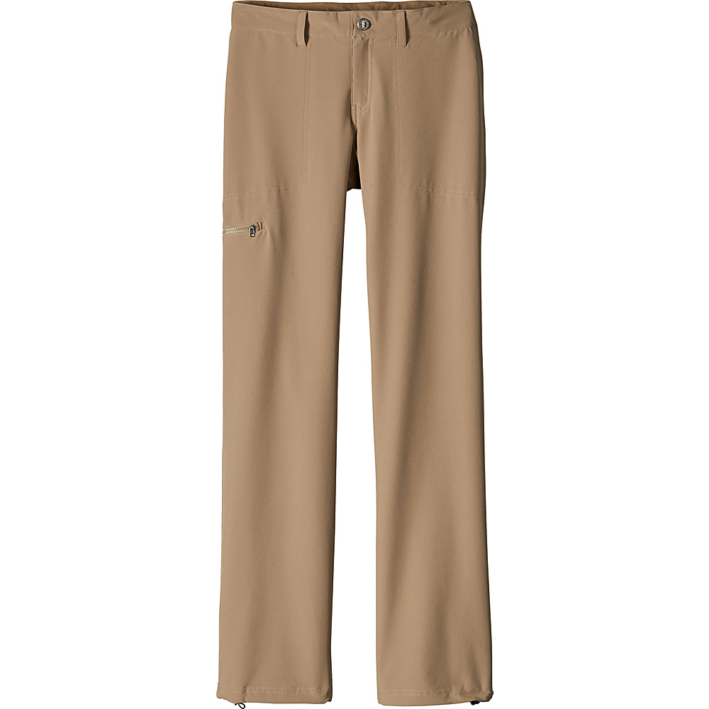 Patagonia Womens Happy Hike Pants 12 - Petite - Mojave Khaki - Patagonia Womens Apparel - Apparel & Footwear, Women's Apparel