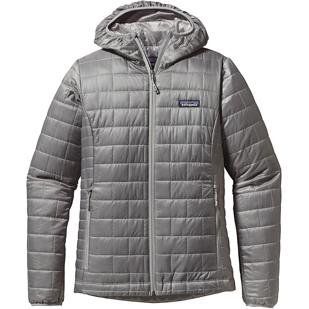 Patagonia Womens Nano Puff Hoody L - Feather Grey - Patagonia Womens Apparel - Apparel & Footwear, Women's Apparel