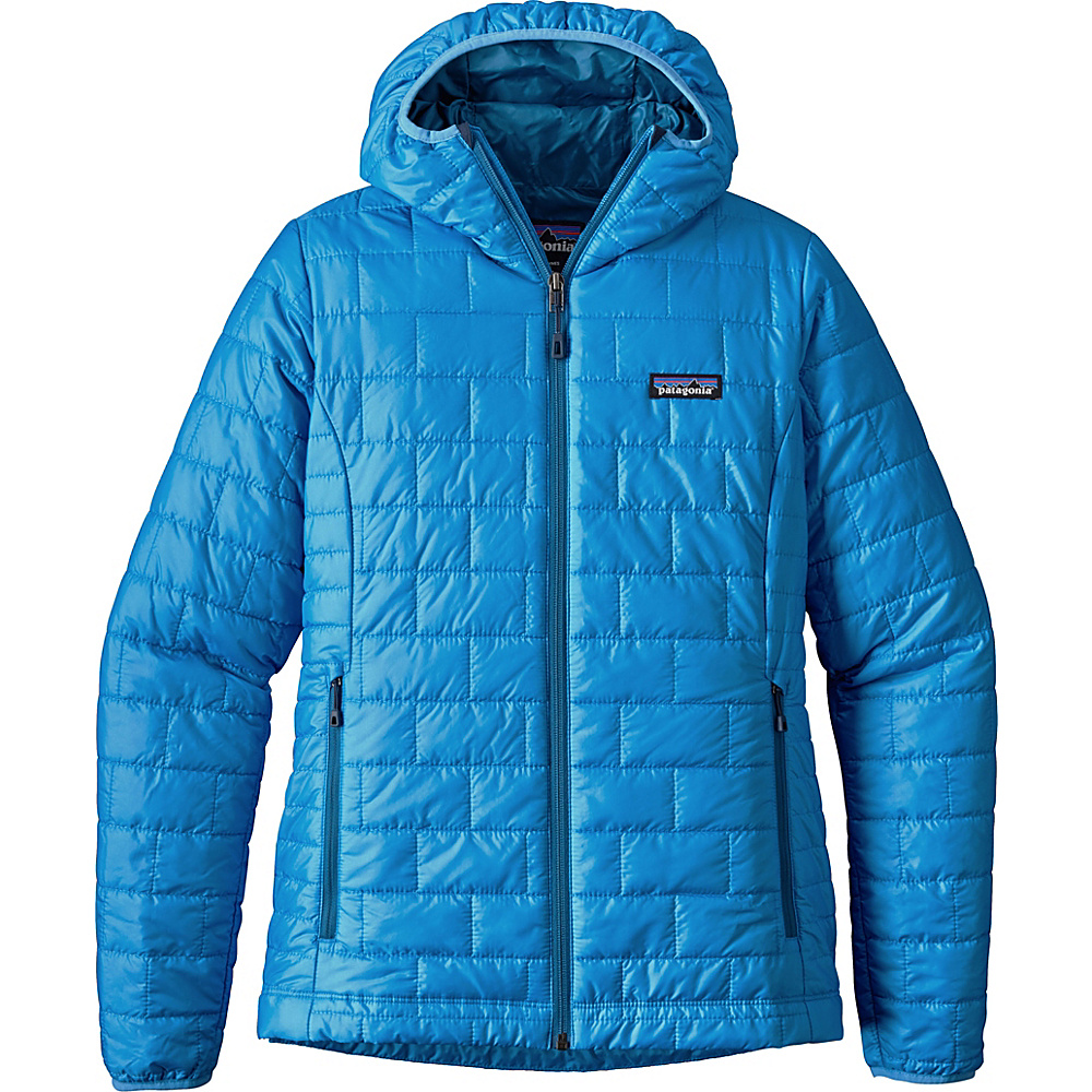 Patagonia Womens Nano Puff Hoody M - Radar Blue - Patagonia Womens Apparel - Apparel & Footwear, Women's Apparel