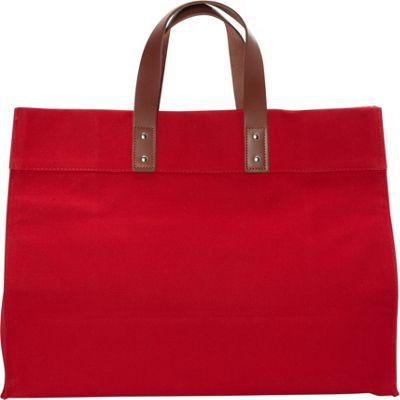 Rhombus Canvas Manhattan Tote Red - Rhombus Canvas Fabric Handbags