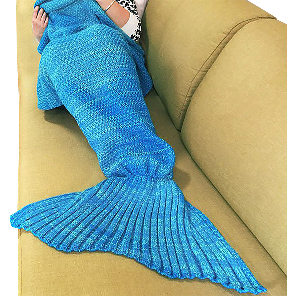 Koolulu Mermaid Blanket Coral Blue Koolulu Travel Pillows Blankets
