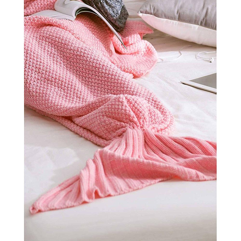 Koolulu Mermaid Blanket Light Pink Koolulu Travel Pillows Blankets