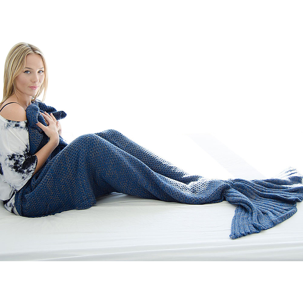 Koolulu Mermaid Blanket Deep Blue Koolulu Travel Pillows Blankets
