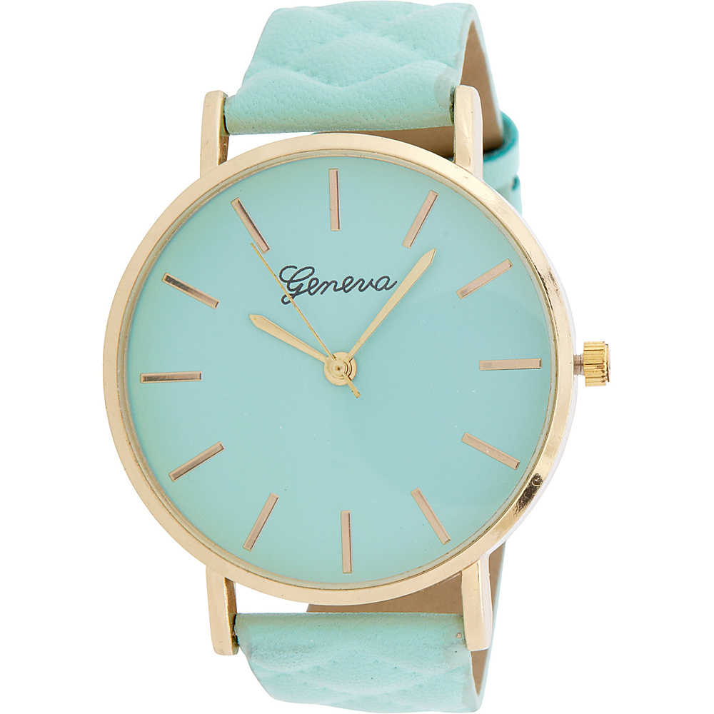 Samoe Quilted Band Watch Mint Samoe Watches