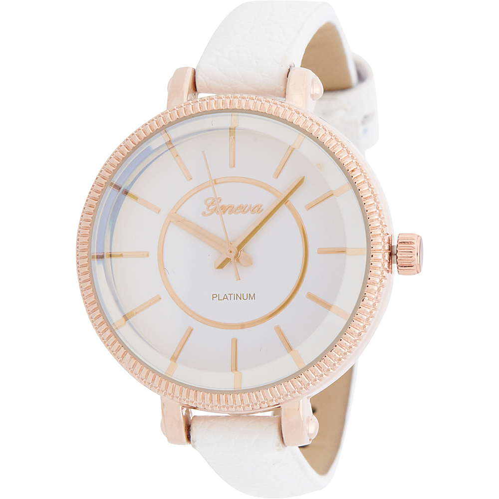 Samoe Etched Round Face Watch White Samoe Watches