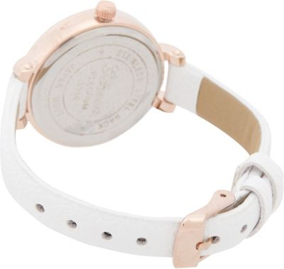 Samoe Etched Round Face Watch White - Samoe Watches