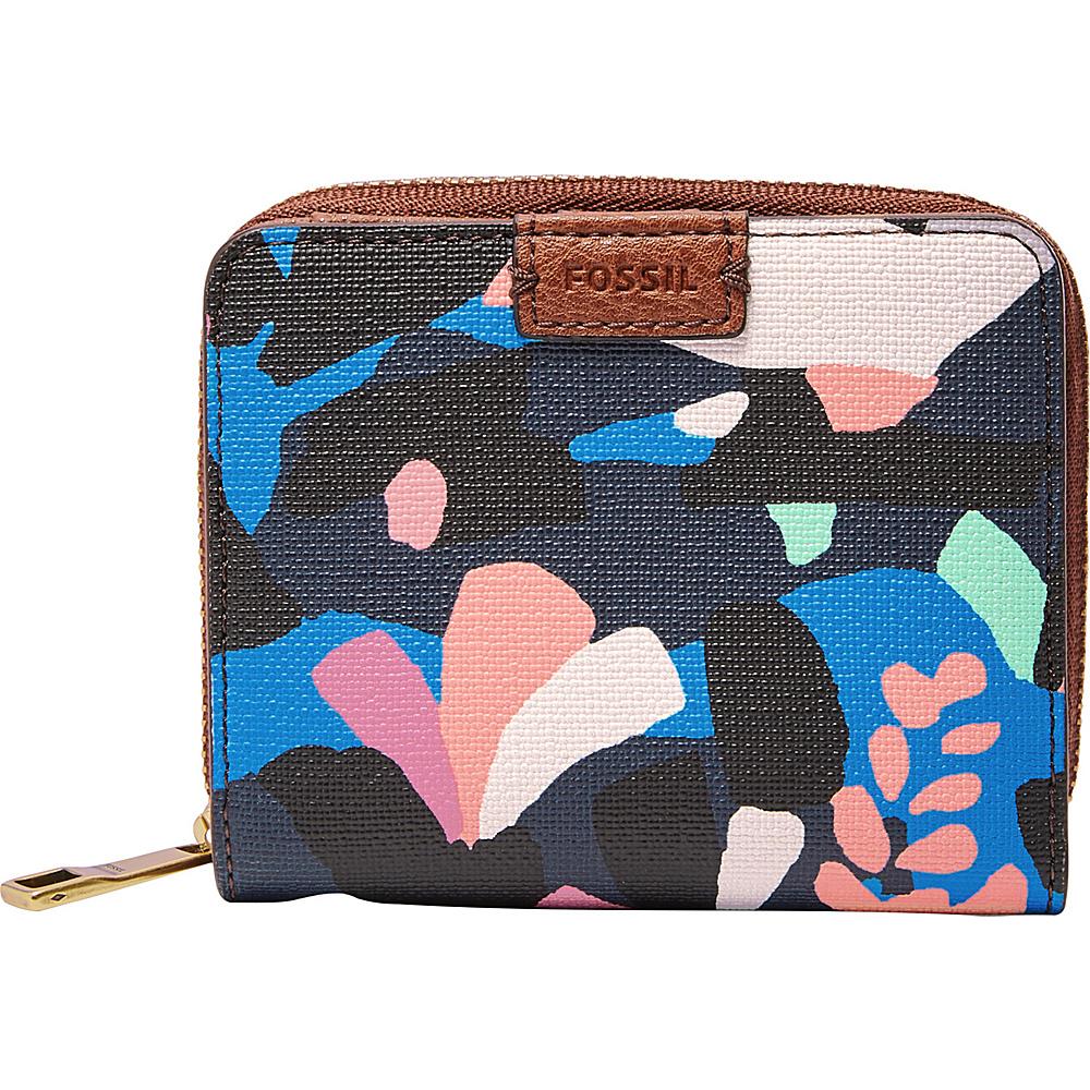 Fossil Emma RFID Mini Multifunction Black Floral - Fossil Womens Wallets - Women's SLG, Women's Wallets