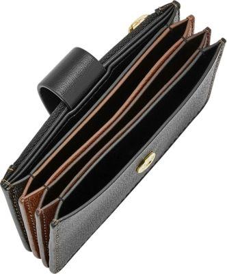 Fossil Mini Tab Wallet Brown - Fossil Designer Handbags