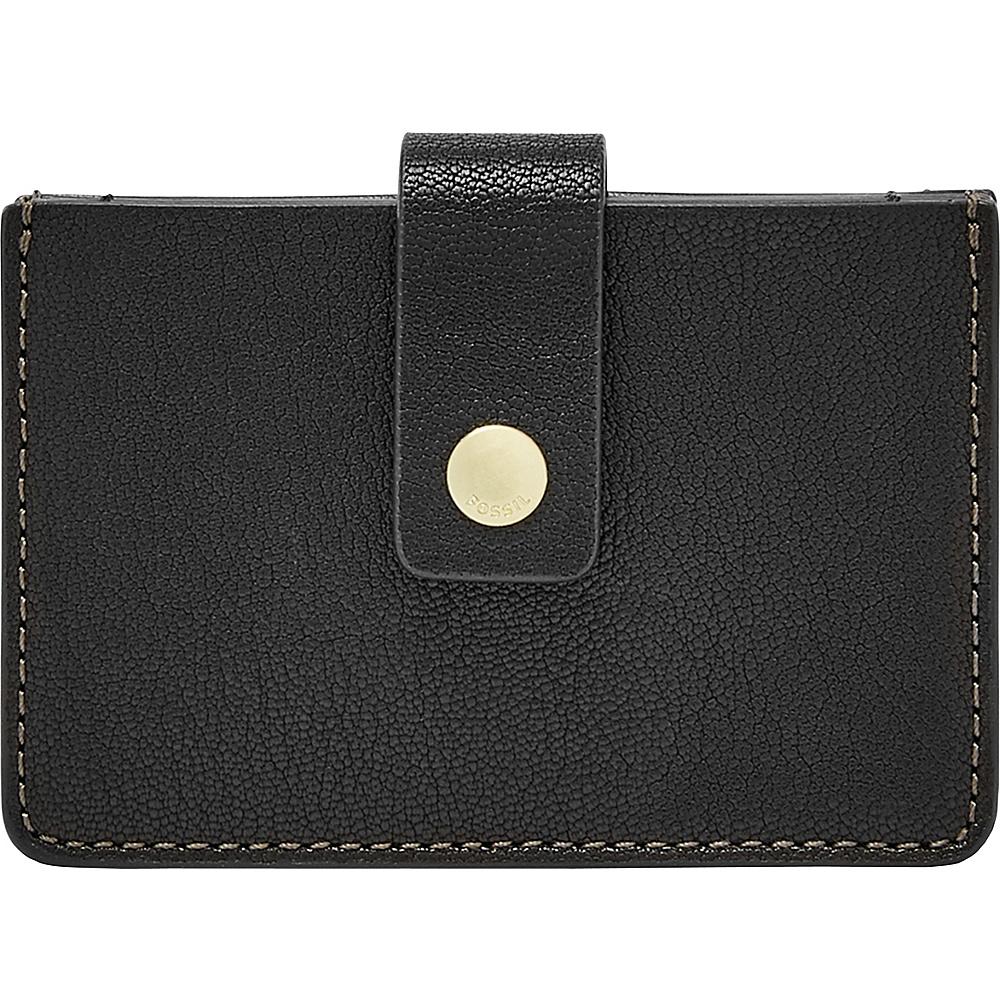 Fossil Mini Tab Wallet Black - Fossil Womens Wallets - Women's SLG, Women's Wallets