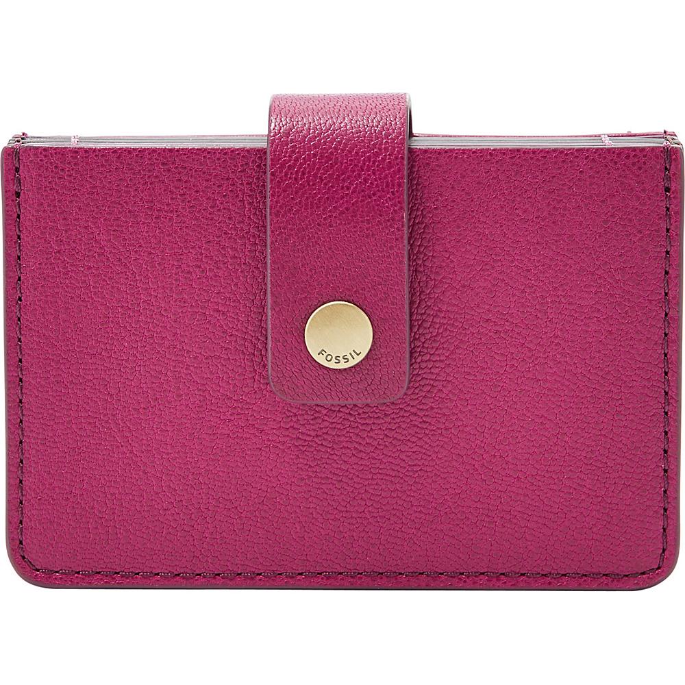 Fossil Mini Tab Wallet Raspberry Wine - Fossil Womens Wallets - Women's SLG, Women's Wallets