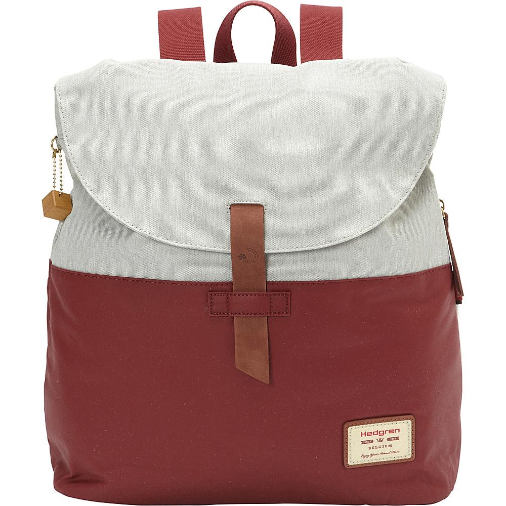 Hedgren Banyan Backpack - Retired Colors Rhubarb/Off White - Hedgren Fabric Handbags
