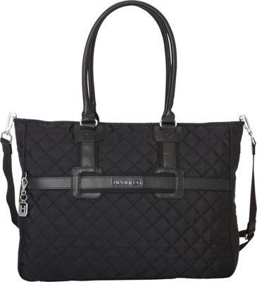 Hedgren Andreia Tote Black - Hedgren Fabric Handbags