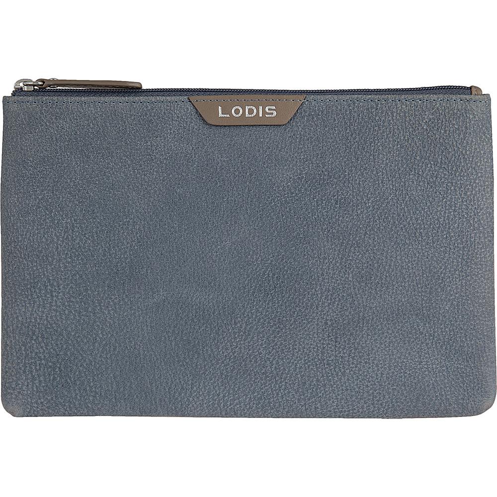Lodis Gijon Flat pouch Navy - Lodis Womens Wallets - Women's SLG, Women's Wallets