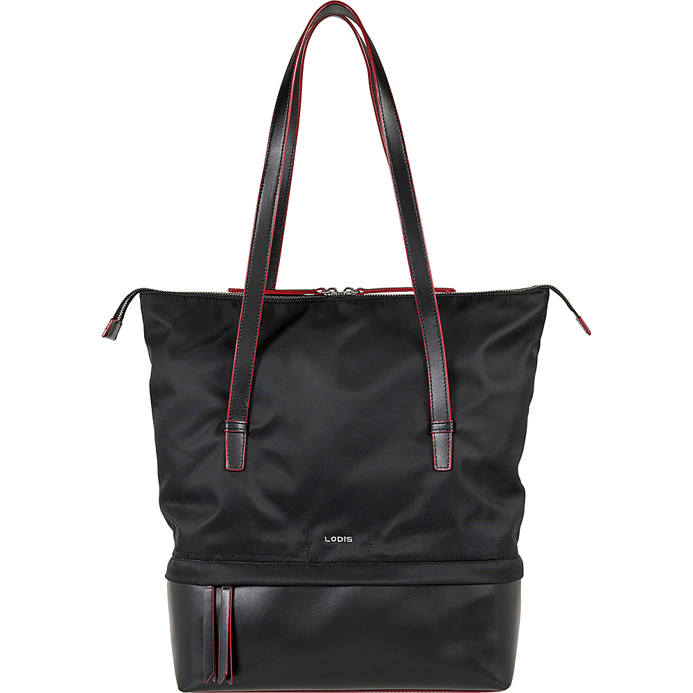 Lodis Kate Nylon Under Lock & Key Barbara Commuter Tote Black - Lodis Fabric Handbags - Handbags, Fabric Handbags