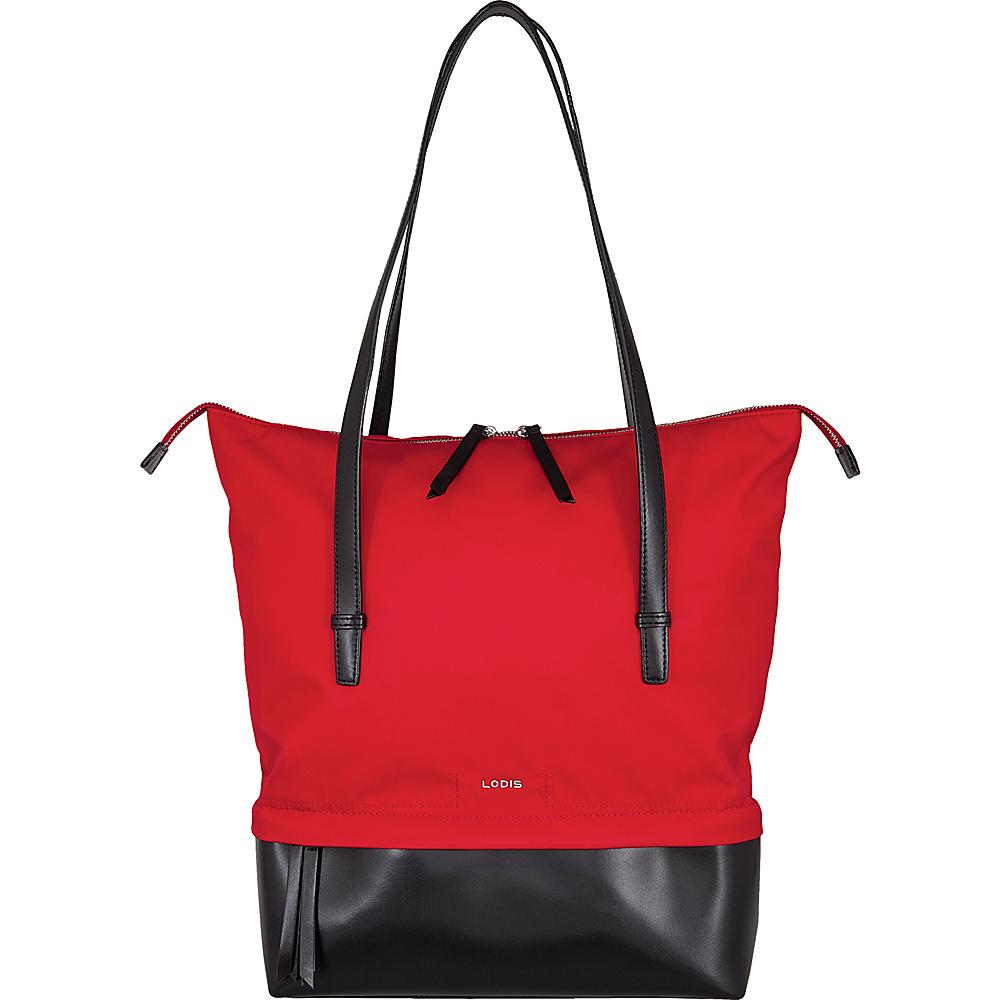 Lodis Kate Nylon Under Lock & Key Barbara Commuter Tote Red - Lodis Fabric Handbags - Handbags, Fabric Handbags