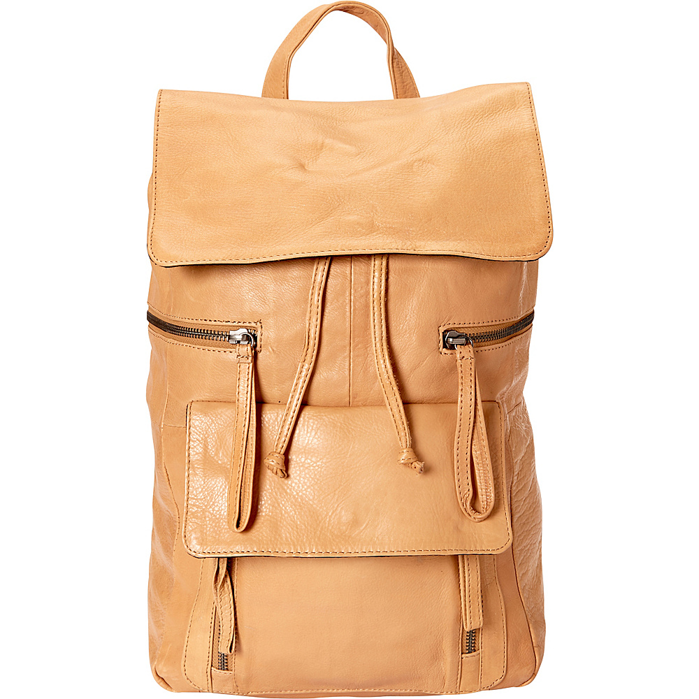 Day Mood Hannah Backpack Camel Day Mood Leather Handbags