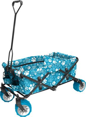Creative Outdoor Creative Outdoor Fold Wagon All Terrain Blue Paw Print - Creative Outdoor Outdoor Accessories