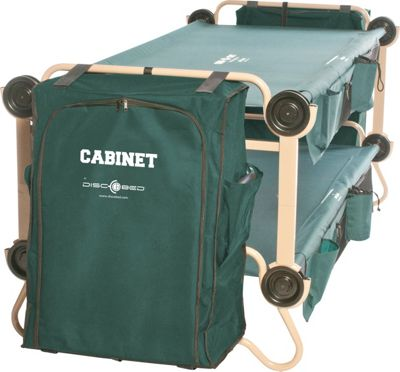 Disc-O-Bed CamOBunk Xlarge 2 Organizers 2 Cabinets Green - Disc-O-Bed Outdoor Accessories