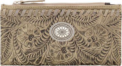 American West Ladies' Folded Wallet Sand - American West Women's Wallets