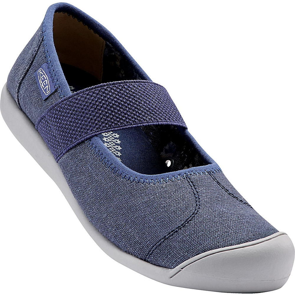 KEEN Womens Sienna MJ Canvas Slip-On 6 - Crown Blue - KEEN Womens Footwear - Apparel & Footwear, Women's Footwear