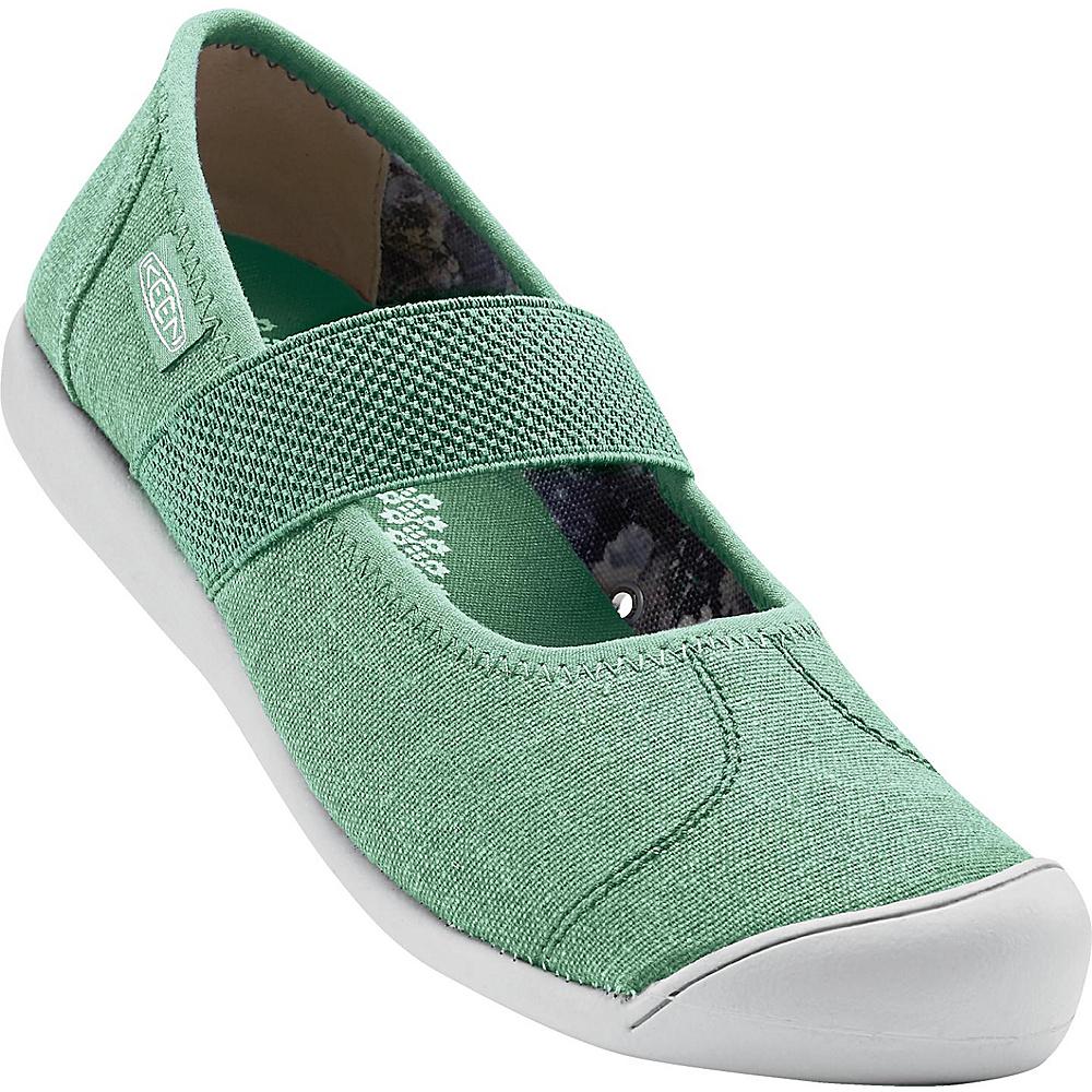 KEEN Womens Sienna MJ Canvas Slip-On 6.5 - Malachite - KEEN Womens Footwear - Apparel & Footwear, Women's Footwear