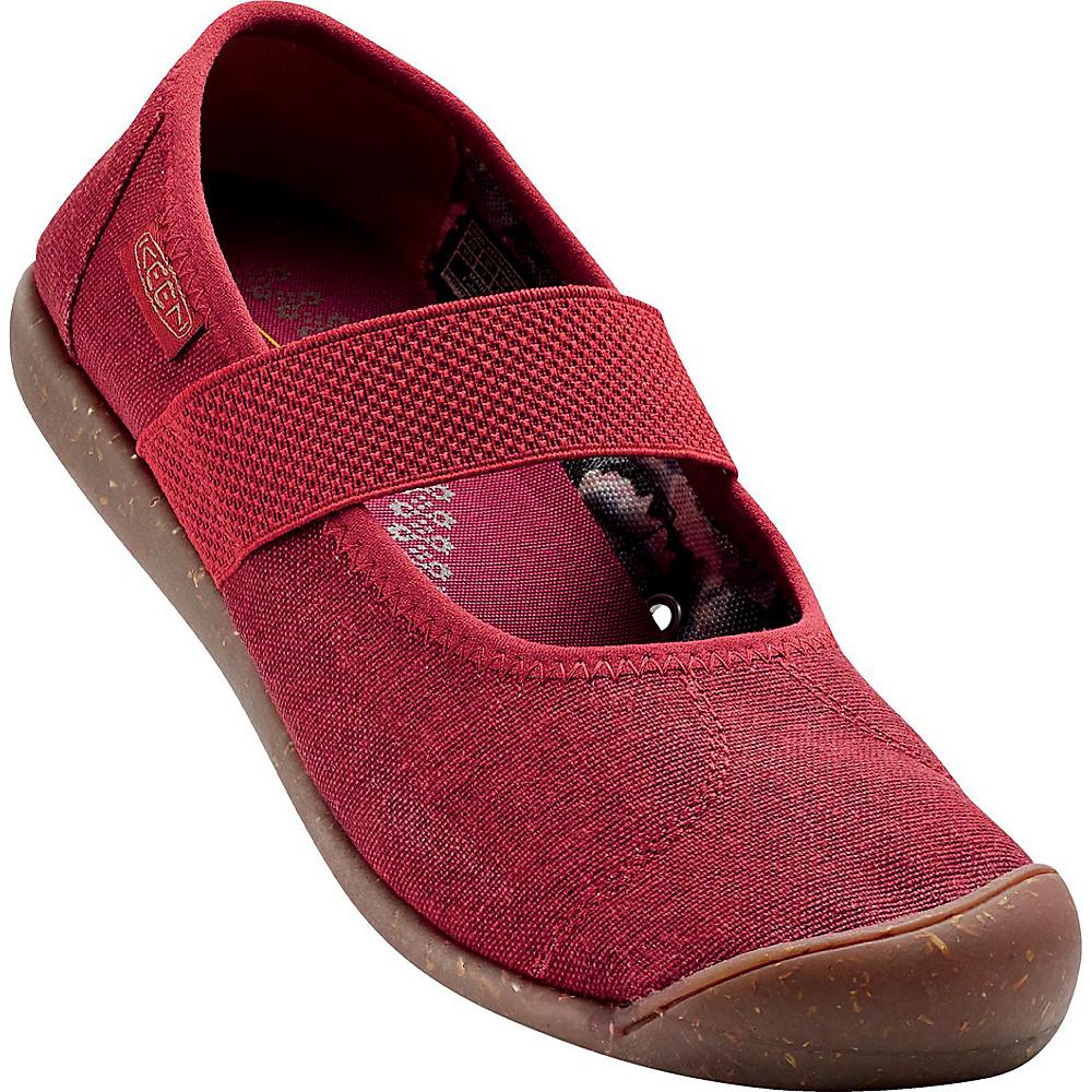 KEEN Womens Sienna MJ Canvas Slip-On 9.5 - Red Dahlia - KEEN Womens Footwear - Apparel & Footwear, Women's Footwear