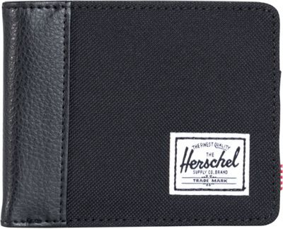 Herschel Supply Co. Edward Bi-Fold Wallet Black/Black Synthetic Leather - Herschel Supply Co. Men's Wallets