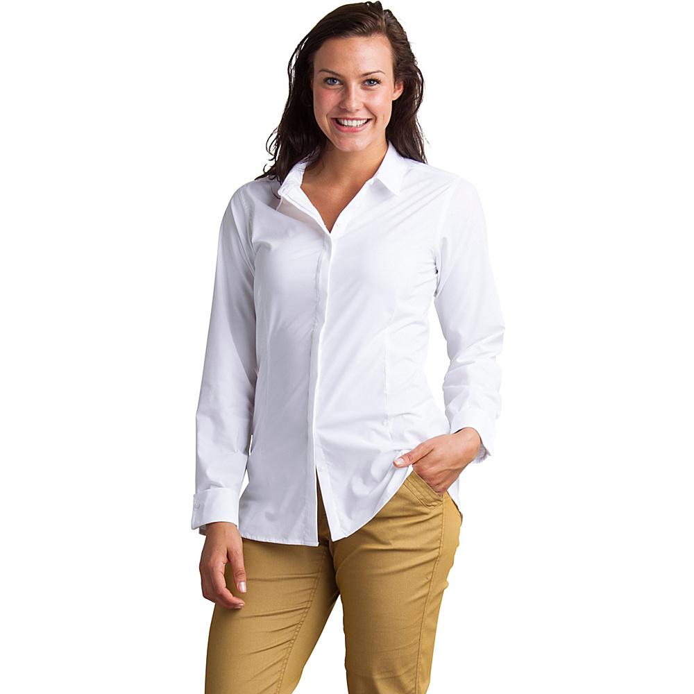 ExOfficio Womens Sofia Long Sleeve Shirt XS - White - ExOfficio Womens Apparel - Apparel & Footwear, Women's Apparel