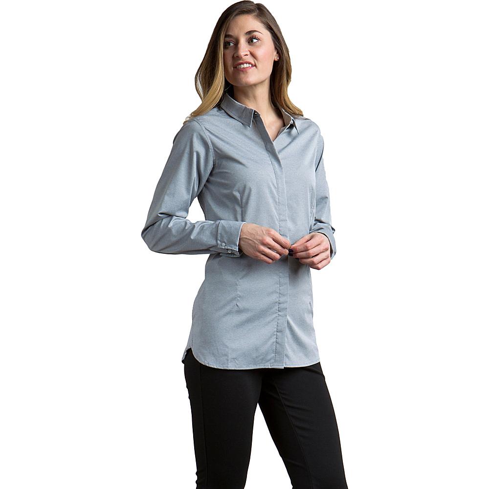 ExOfficio Womens Sofia Long Sleeve Shirt XS - Raven - ExOfficio Womens Apparel - Apparel & Footwear, Women's Apparel