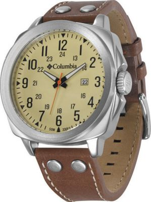 Columbia Watches Columbia Watches Cornerstone Watch Eggshell/Brown Leather - Columbia Watches Watches