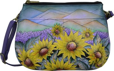 ANNA by Anuschka Small Multicompartment Crossbody Hills Of Tuscany - ANNA by Anuschka Leather Handbags