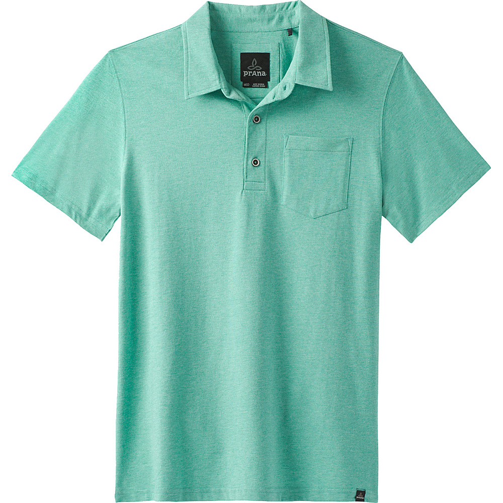 PrAna Adder Polo Shirt XXL - Aquamarine - PrAna Mens Apparel - Apparel & Footwear, Men's Apparel