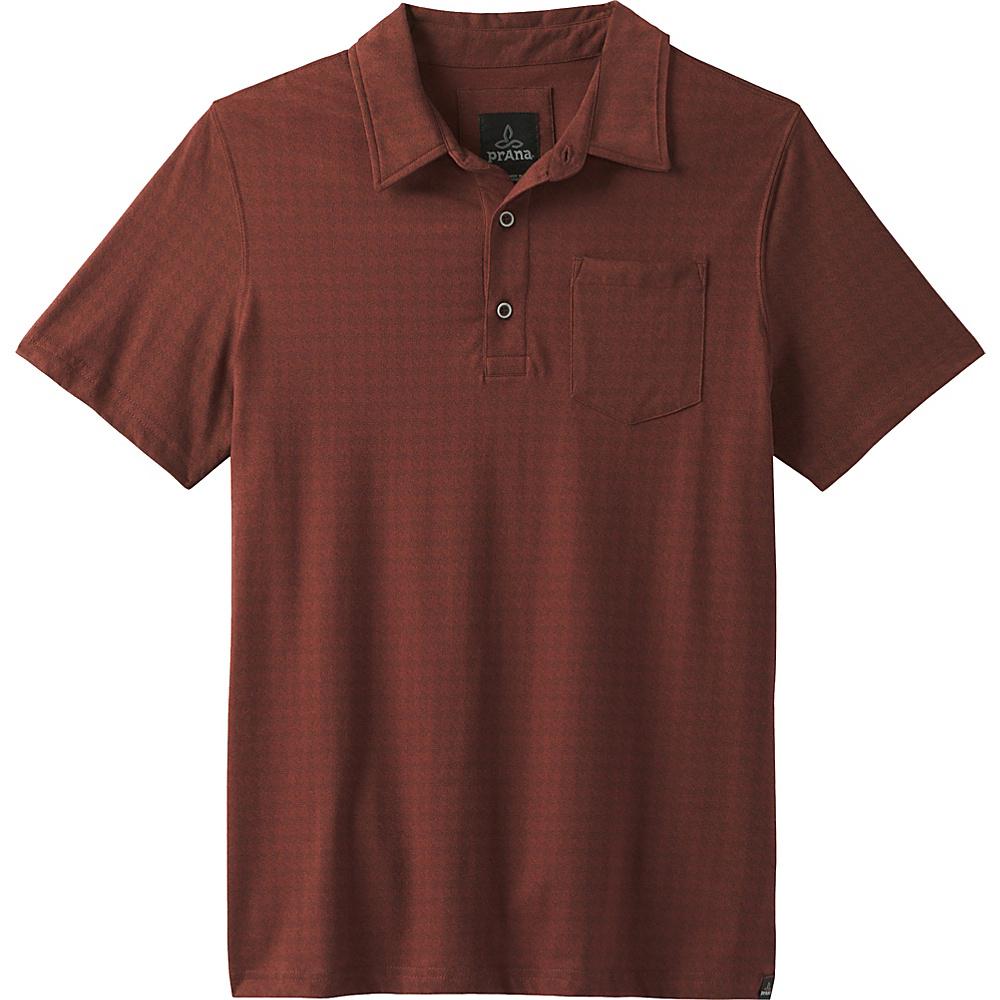 PrAna Adder Polo Shirt S - Raisin - PrAna Mens Apparel - Apparel & Footwear, Men's Apparel
