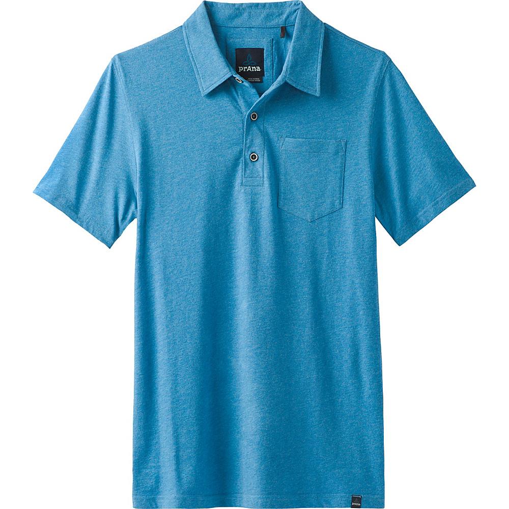 PrAna Adder Polo Shirt XL - Vortex Blue - PrAna Mens Apparel - Apparel & Footwear, Men's Apparel