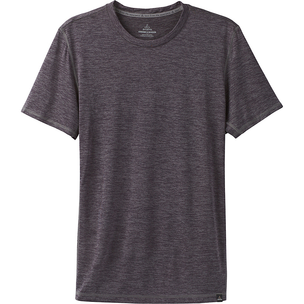 PrAna Hardesty Short Sleeve T-Shirt XL - Gravel - PrAna Mens Apparel - Apparel & Footwear, Men's Apparel